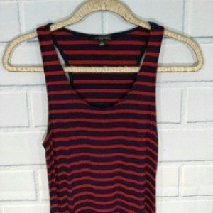 Limited Navy/Red Striped Knit Maxidress